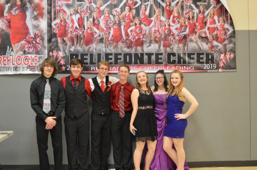 A group of Bellefonte students enjoy the winter formal.