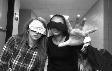 Put on your blindfolds