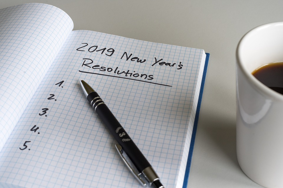 Writing down your resolutions and revisiting the list is a good way to keep them in the front of your mind.