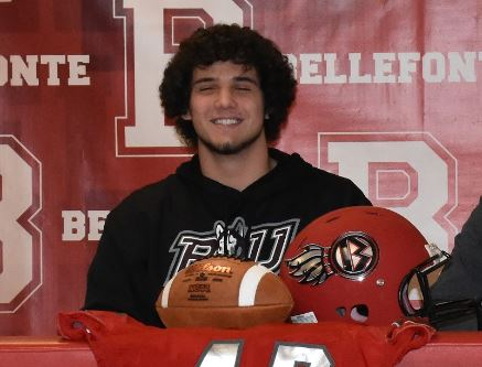 Senior Caleb Rockey signs to play football with Bloomsburg University