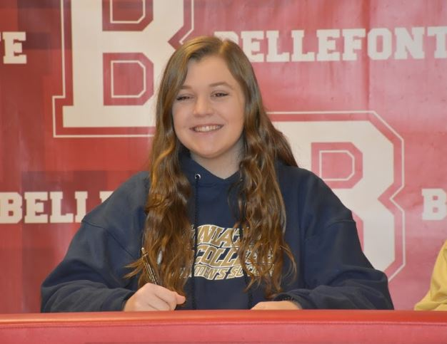 Senior Cati Besch signs to play soccer at Juniata College