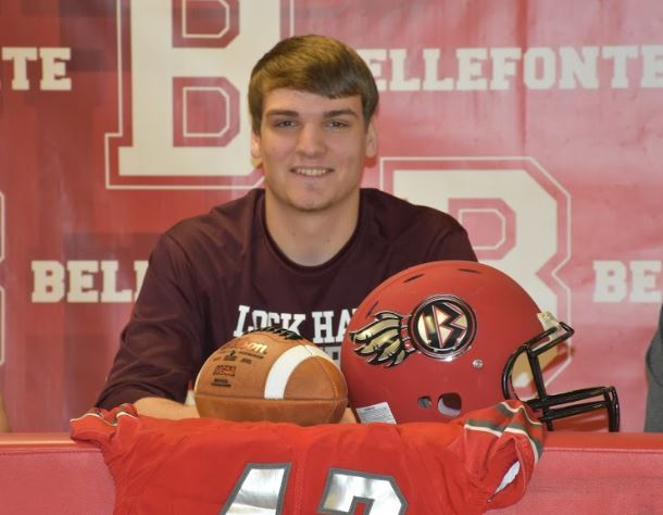 Senior Noah Badger signs to play football with Lock Haven University