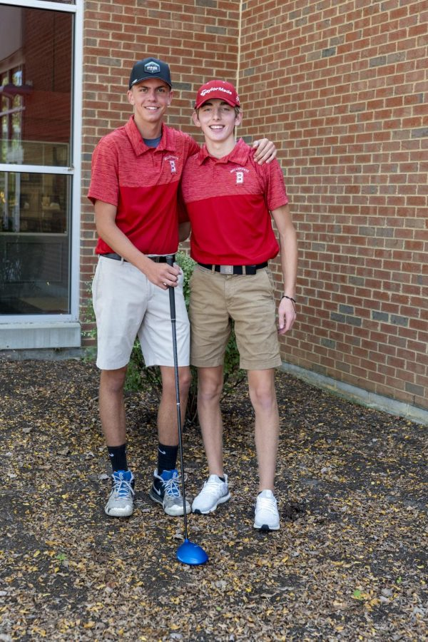 Senior Gavin Fravel and Joey Bruni