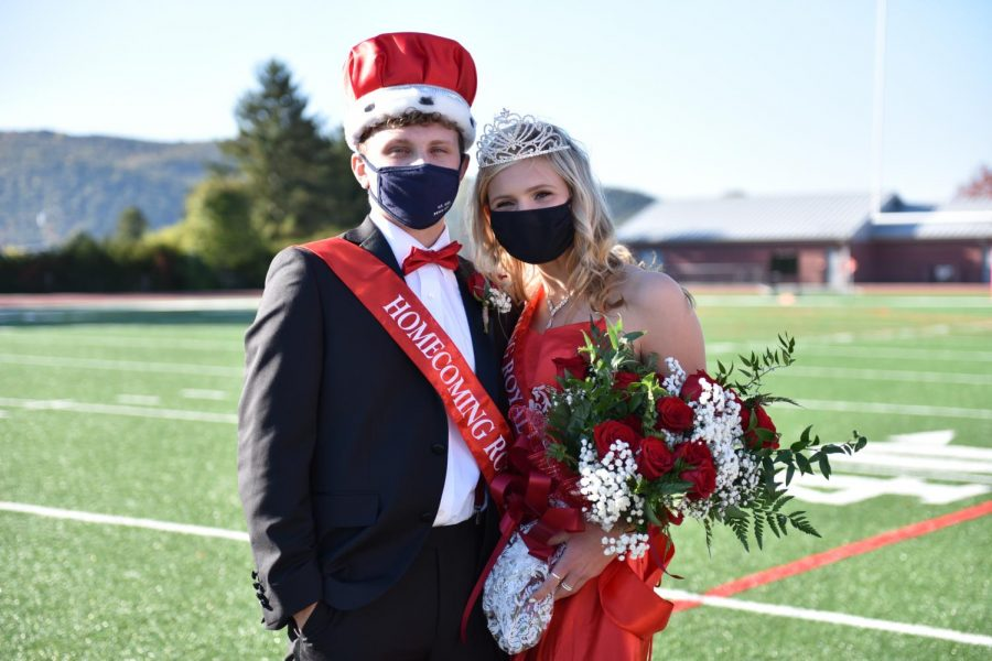 David McAndrew and Alexia Mishock were crowned this year's 2020 Homecoming Royalty