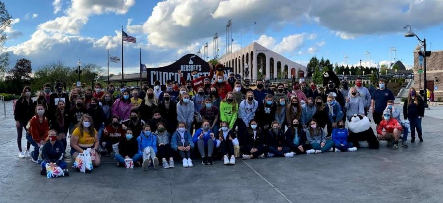 Seniors+traveled+to+Hershey+Park+for+a+day+trip.+