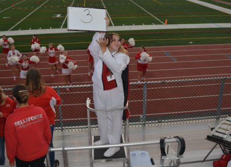 Senior Ella Underwood serves as the Marching Bands Drum Major this year.