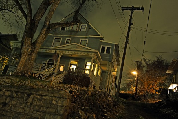 Haunted houses are a great way to celebrate Halloween.